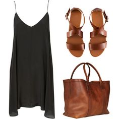 chic summer outfit -- Lotuff & Clegg Leather Working Tote