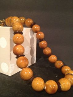 Look of eye of tiger beads  are beautiful paired with by Bedotted, $32.50