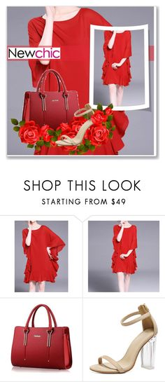 """""""Newchic #1 All red"""" by smajicelma ❤ liked on Polyvore"""