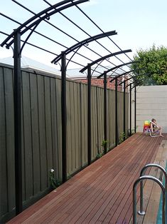 Gardens of Steel Pool fencing, pool gates, pergolas, garden pergolas, arches, rusted steel, rusted metal, architectural projects