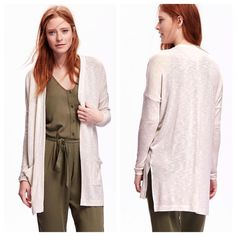 Old Navy | Open Front Split Seam Cardigan Please note the color is as pictured in photos 2 and 3. Cover photo is meant to show fit, but is the wrong color. Fits true to size. New with tags, never worn. Open to offers! Old Navy Sweaters Cardigans