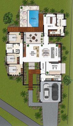 planta baixa com 4 dormitorios e piscina floor plan with 4 bedrooms and pool Image Size: 474 x 842 Source Sims 4 House Plans, Basement House Plans, House Layout Plans, House Plans One Story, Dream House Plans, Modern House Plans, House Layouts, House Floor Plans, Sims 4 Houses Layout