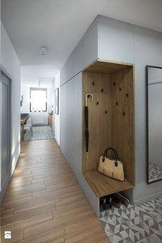 Modern Entryway, Entryway Ideas, Entryway Storage, Bench Storage, Hallway Ideas, Entryway Paint, Bench Mudroom, Modern Staircase, House Entrance