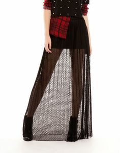 Bershka México - Falda Bershka larga plisada tul Classy Chic, Tulle, Style Inspiration, Fashion Outfits, Egypt, Skirts, How To Wear, Clothes, Long Skirts