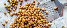 These oil free Roasted Chickpeas are a top notch snack but I also use them to upgrade any salad from meh to mouth watering!