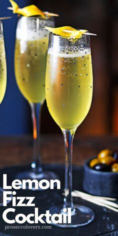 Add a little limoncello to your sparkling wine for a delicious, citrusy twist. You can substitute the Champagne for Prosecco in this recipe for a lighter alternative. Best Summer Cocktails, Best Cocktail Recipes, Winter Cocktails, Sangria Recipes, Beer Recipes, Craft Cocktails, Champagne Drinks, Prosecco Cocktails, Cocktail Drinks