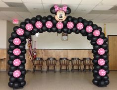 minnie mouse with balloons   Mickey and Minnie Mouse Party Theme -Lewisville TX