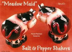 Meadow Maid Cow Salt & Pepper Shakers by Gifco, Inc.. $15.89