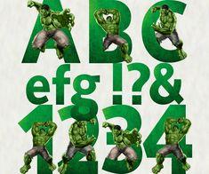 The Hulk Alphabet & Numbers