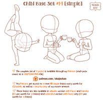 Chibi poses reference (chibi base set by Nukababe on DeviantArt Chibi poses reference (chibi base set by Nukababe on DeviantArt,drawing stuff Chibi Pose Reference (Simple Chibi Base Set by Nukababe Anime Drawing Books, Art Manga, Drawing Techniques, Drawing Tips, Chibi Base Couple, Chibi Body, Body Outline, Chibi Sketch, Drawing Base