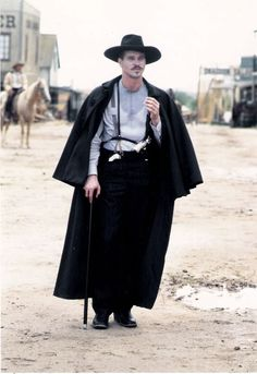 Val Kilmer as Doc Holliday in Tombstone Tombstone Movie, Tombstone 1993, Tombstone Quotes, Doc Holliday Tombstone, O Cowboy, Val Kilmer, Tv Westerns, The Lone Ranger, Western Movies