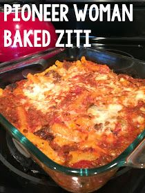 Live and Learn: From the Kitchen: Pioneer Woman Baked Ziti woman recipe baked ziti Easy Baked Ziti, Baked Ziti With Ricotta, Sausage Baked Ziti, Recipes With Ricotta Cheese, Baked Ziti With Chicken, Baked Rigatoni, Pioneer Woman Baked Ziti Recipe, Pioneer Woman Recipes, Pioneer Woman Freezer Meals