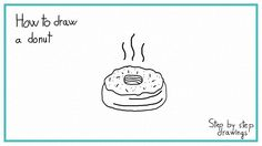 How to draw a donut #donut #easydrawins #howtodraw #stepbystep #drawing