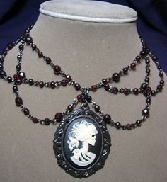 Gorgeous Steampunk Victorian Skeleton Choker
