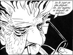 J. Muñoz y C. Sampayo - Alack Sinner (Encuentros y Reencuentros, 1982) - El padre de Alack, mezcla de Breccia-Pratt