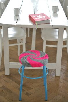 36 hours & twirl by wood & wool stool, via Flickr