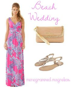 Wedding Wednesday || Guest Style Inspiration || Lilly Pulitzer || Beach Wedding || Monogrammed Magnolias