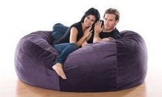 Bean Bag Chairs: Jaxx Club Lounger in Microsuede. Kick back and relax in this love seat Bean Bag Lounger, Bean Bag Sofa, Oversized Bean Bag Chairs, Best Chair For Posture, Portable High Chairs, Cool Bean Bags, Black Dining Room Chairs, Ikea Chairs, Cafe Chairs