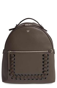 d35dc0bee105 Fendi Calfskin Leather Backpack Fendi Backpack