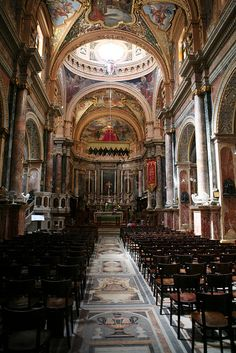 Church of St. Paul's Shipwreck by askii, via Flickr.  This church is in Valetta, Malta - it is amazing!