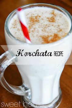 Horchata Drink Recipe  Love this stuff in Mexican restaurants so maybe I can make it at home!