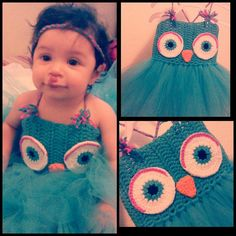 Owl Tutu Dress Excellent for Birthday or just by ZulettsCreations, $25.00