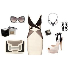 polyvore dresses in black and white | Gray Black and White, created by jodi58 on ... | Dress me up & take...
