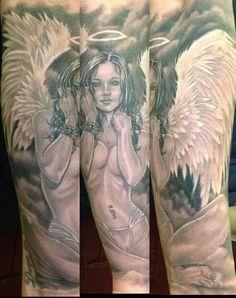Significado+da+tatuagem+de+anjo+e+50+fotos+de+tatuagens+|+Tinta+na+Pele