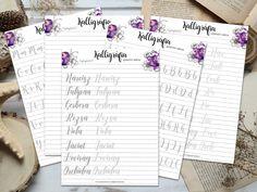 Anyák napi kalligráfia csomag - OszlánszkiART Calligraphy Tutorial, How To Write Calligraphy, Digimon, Templates, Film, Movie, Stencils, Film Stock, Vorlage