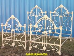 Antique Iron Twin Beds