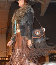 . The fringe was flying at the Western Design Conference fashion show. (Photo provided by New Thought Media Inc.)