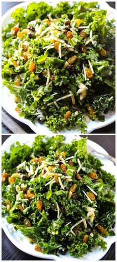 Lemon Parmesan Kale Salad #kale #salad #lunch