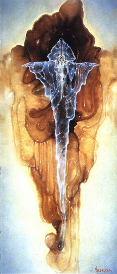 Robert Venosa ~ I do not know exactly what this is but it speaks to me as spiritual. Enlarge it, he does beautiful work!