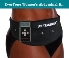EverTone Women's Abdominal Belt Plus Electronic Muscle Toner, Black, One Size Fits All. Introducing Evertone Abs Belt for Men, the quick and easy way to help you get the strong, lean abs you always wanted. Get ripped, sculpted abs and side handles faster and easier with the Evertone Abs belt Plus. Features new and improved technology that's FDA Approved for tightening, toning and strengthening healthy muscles. Just put the belt on, turn it on and it begins to directly stimulate core…