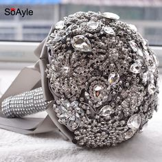 Find More Wedding Bouquets Information about SoAyle Gorgeous Crystal Luxury Bling Wedding Bouquet Sparkle Brooch Bouquet Wedding Accessory Artifical Flowers Bridal Bouquets,High Quality bouquet holder,China bouquet flower arrangement Suppliers, Cheap flower pickguard from Susie Custom Shop on Aliexpress.com