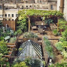 roof gardens are awesome! urban gardening awesome! Surrounding yourself with plants is awesome. Quiet places to sit in the city awesome.