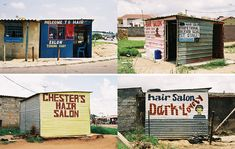 "British photographer Simon Weller captured some amazing images for his lates book ""South African Township Barbershops & Salons"" South African barbershops and salons are more than just places where you. Painting Concrete, Stained Concrete, Rum Shop, Hair Salon Names, Afro, African Shop, Barber Haircuts, Derelict Buildings, Beauty Salon Interior"