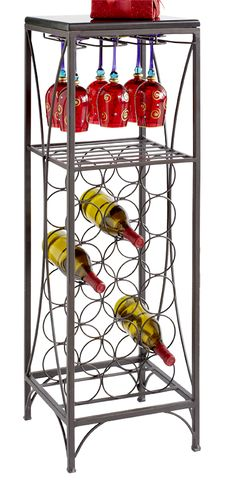 A compact and refined wine rack is a happy hour waiting to happen - I have this in my kitchen - perfect for the space.