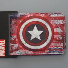 CAPTAIN AMERICA SERIES Comics Wallet Vallet The Avengers Super Hero CAPTAIN AMERICA Wallet Student Men Purse Cool Cartoon Wallet
