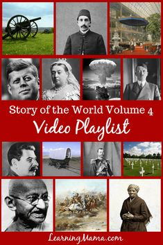 of the World Volume 4 Video Playlist A Complete Playlist for Story of the World Volume 4 - supplement your homeschool modern history lessons!A Complete Playlist for Story of the World Volume 4 - supplement your homeschool modern history lessons! World History Teaching, Modern World History, World History Lessons, History Class, Us History, Ancient History, History Education, History Memes, British History