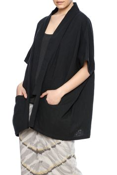Cotton jacket in black. Runs oversized and features two front pockets.   Woven Cloud Jacket by Mary Meyer. Clothing - Jackets, Coats & Blazers - Jackets Manhattan, New York City