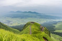 5-day suggested itinerary, you would be able to explore Kyushu, Japan's third largest island.-Mountain trail around Mt. Aso in Kumamoto, Japan