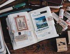 "@lihaopaper on Instagram: ""還沒到一半 就胖到不行的本子 每一頁都是成長"" Travel Journals, Blue Grey, Cover, Books, Instagram, Libros, Book, Book Illustrations, Travel Magazines"