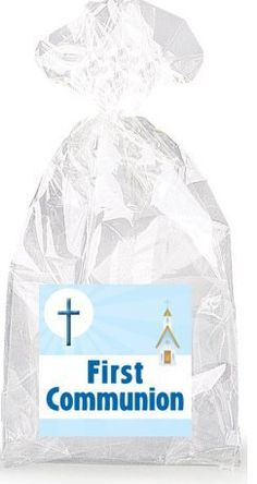Church and Cross Blue First Communion Party Favor Bags with Ties - 12pack ** Learn more by visiting the image link.