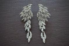 Bridal earrings  dangle crystal earrings Wedding by TamarAndTalya