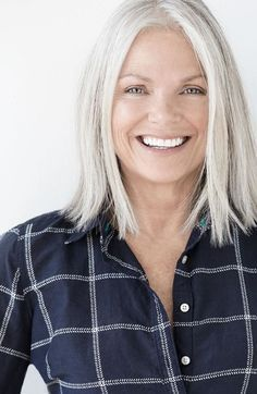Image result for long grey hair styles over 50 #GrayHair