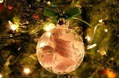 Keepsake wedding ornament
