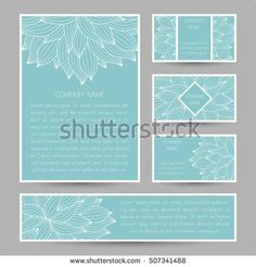 Ornate vector card in mehndi style pinterest mehndi set of vector cards with abstract floral doodle ornament invitation cards flyers business stopboris Images