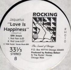 Jaquarius - Love Is Happiness(Acid Rain) 1988 (+playlist) Old School House, Electronic Music, Rain, Love, Happy, Chicago, Happiness, Rain Fall, Amor