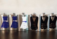 Bridal Party Personalized Flask - Groomsmen Gift, Bridesmaid Gift
